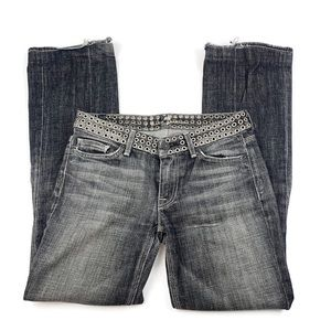 7 for all Mankind Flynt Grommet Bootcut Jeans 27